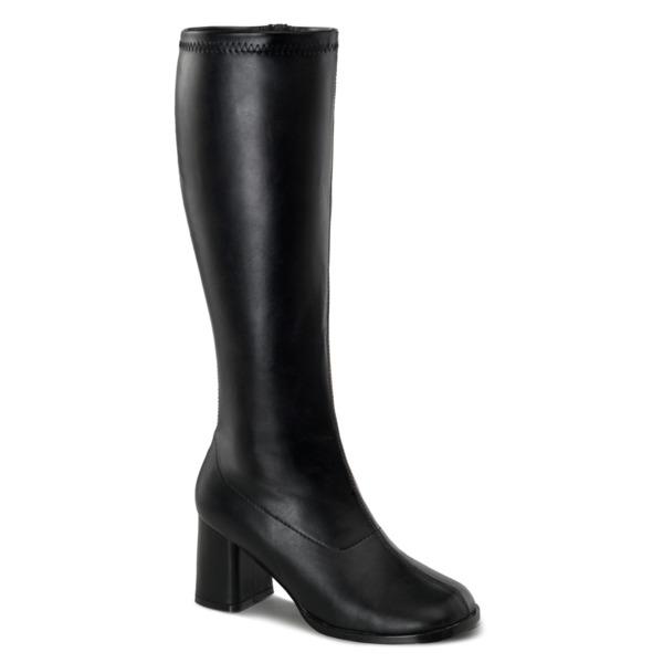 Kniehohe Stiefel mit Blockabsatz GOGO-300WC schwarz