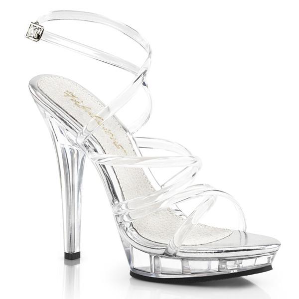 Sandaletten High Heels mit Knöchelriemen und Miniplateau LIP-106