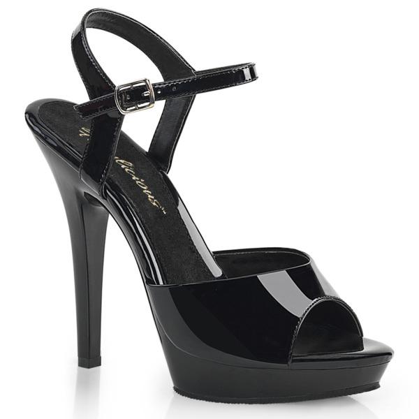 Knöchelriemen Sandalette LIP-109 Lack schwarz