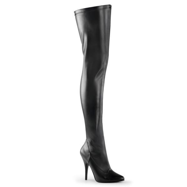 Overknee Stiefel schwarz aus Kunstleder