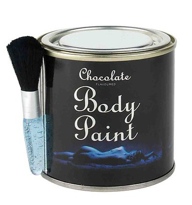 Chocolate Body Paint Tin 200g (mit Pinsel)