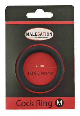 MALESATION Silicone Cock-Ring black M (4cm)