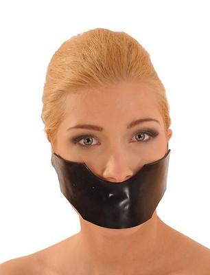 Latexmaske mit Knebel