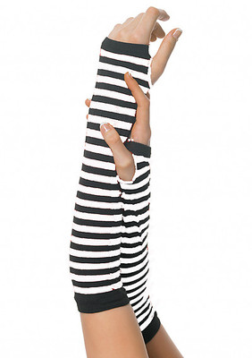 Nylon Striped Arm Warmers