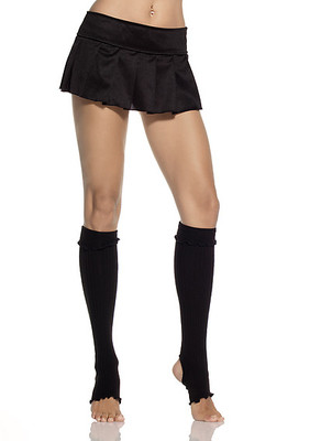Ribbed Cuff Stirrud Knee Highs