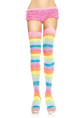 Acrylic Neon Rainbow Thigh Highs
