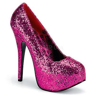 Glitter Plateau Pumps TEEZE-06G rosa
