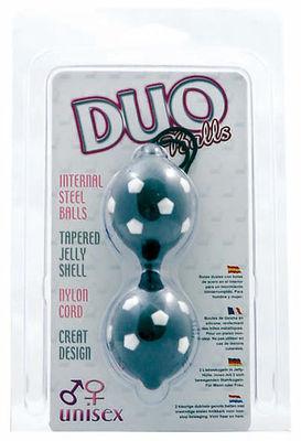 Duo Balls black mit 5-Eck-Noppen