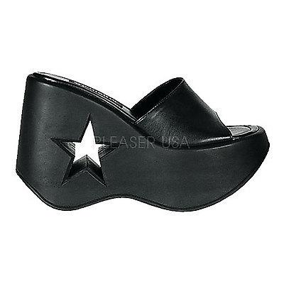 DEMONIA Platform Sandals & Shoes Womens DYNAMITE-01 schwarz Kunstleder