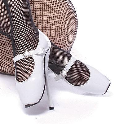 Extreme Ballett High Heels BALLET-08 weiß Lack