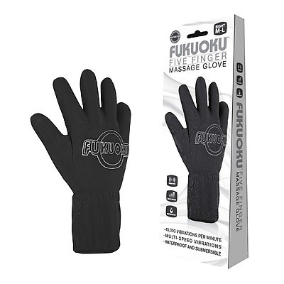 FUKUOKU Glove Massage-Handschuh black