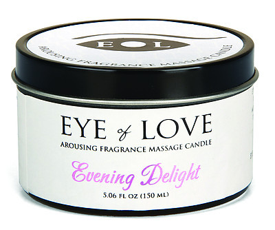 EYE OF LOVE Pheromon-Massage Kerze - Evening Delight 150ml