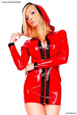 Damen Kapuzen Minikleid, geklebt Latexa 3322