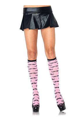 Mustache Acrylic Knee Socks