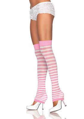 Opaque Stripe Leg Warmer