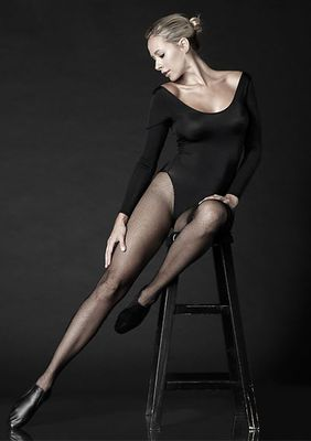 Professional Fishnet Tights With Nylon/Cotton Comfort Sole And No-Roll Comfort Waist Band
