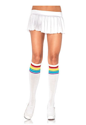 Rainbow Athletic Knee Socks