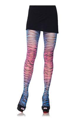 Rainbow Zebra Print Tights