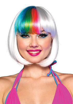 Riot Rainbow Bang Wig With Adjustable Elastic Strap