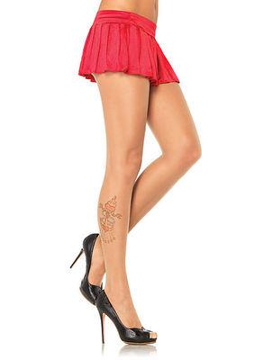 Spandex Sheer Tattoo Pantyhose