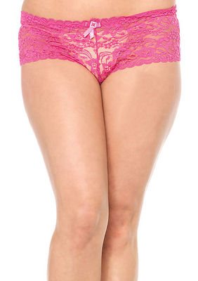 Stretch Lace Tanga With Satin Bow Accent