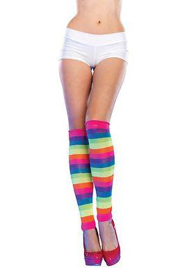 Ultra Neon Rainbow Leg Warmers