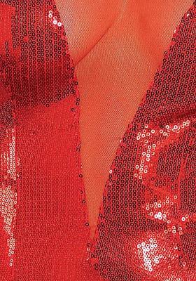 Pailetten-Kleid rot