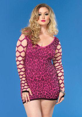 Seamless Leopard Minidress