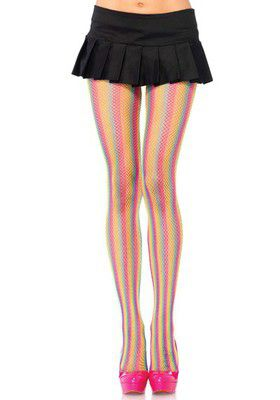 Rainbow Fishnet Pantyhose