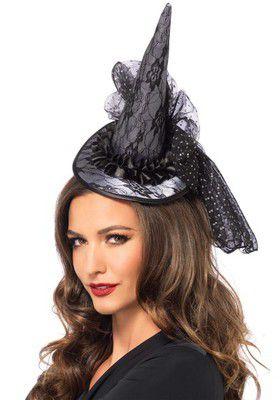 Mini Lace Witch Hat