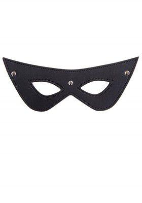 Augenmaske mit Nieten aus Kunstleder