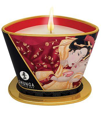 SHUNGA Massage Kerze Romance Erdbeerwein 170ml