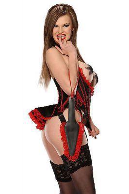 Burlesque-Corsage mit Schößchen Ledapol LE3186
