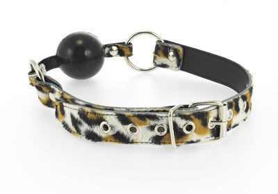 Mundknebel Leopardenfell mit Silikonball