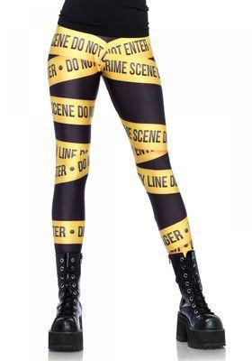 Crime scene leggings