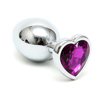 Buttplug Edelstahl Edelstahl mit Herzform Kristall