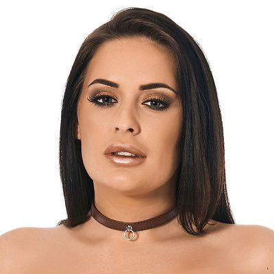 Leder-Halsband der O Retro
