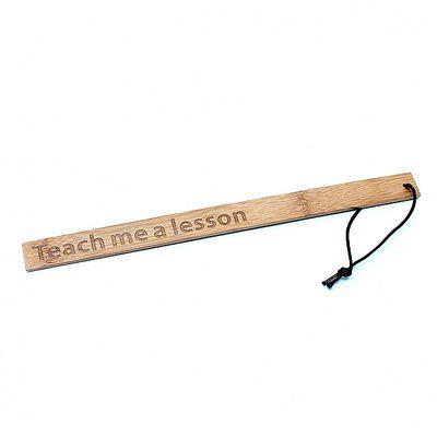 Teach me a lesson Bambus-Lineal Retro