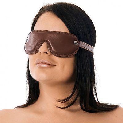Leder-Augenmaske Retro