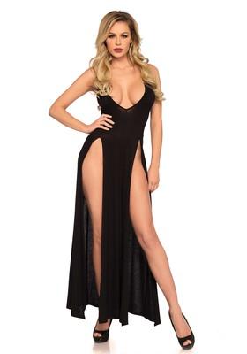 Langes geschlitztes Kleid Diva