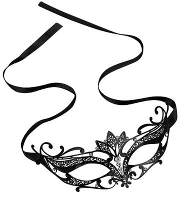 Schwarze venezianische Katzenaugen-Maske