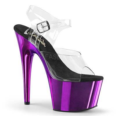 Plateau Sandalette mit Stilettos ADORE-708 violett