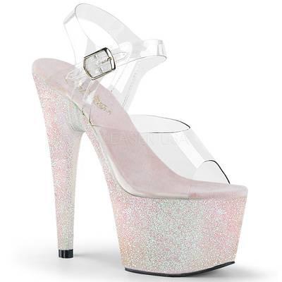 Plateau High Heels mit Glitter ADORE-708HMG opal