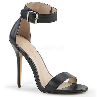 Elegante Sandalette AMUSE-10 Leder schwarz