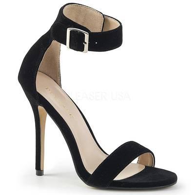 Elegante Sandalette AMUSE-10 Samt schwarz
