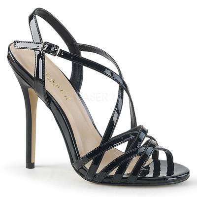 Sandalette AMUSE-13 schwarz mit Kreuzriemchen