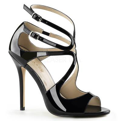 Peep Toe Sandalette AMUSE-15 schwarz