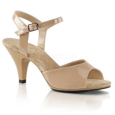 Klassische Lack Sandalette BELLE-309 nude