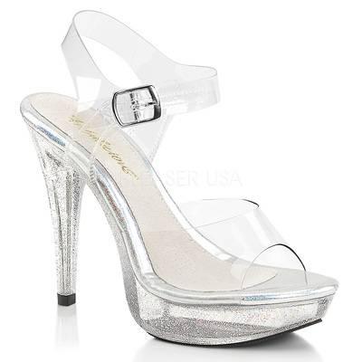Sandaletten High Heels mit Knöchelriemen und Miniplateau COCKTAIL-508MG