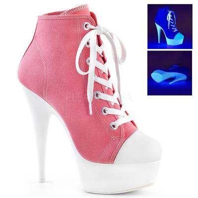 Canvas / Neon Sneaker DELIGHT-600SK-02 rosa